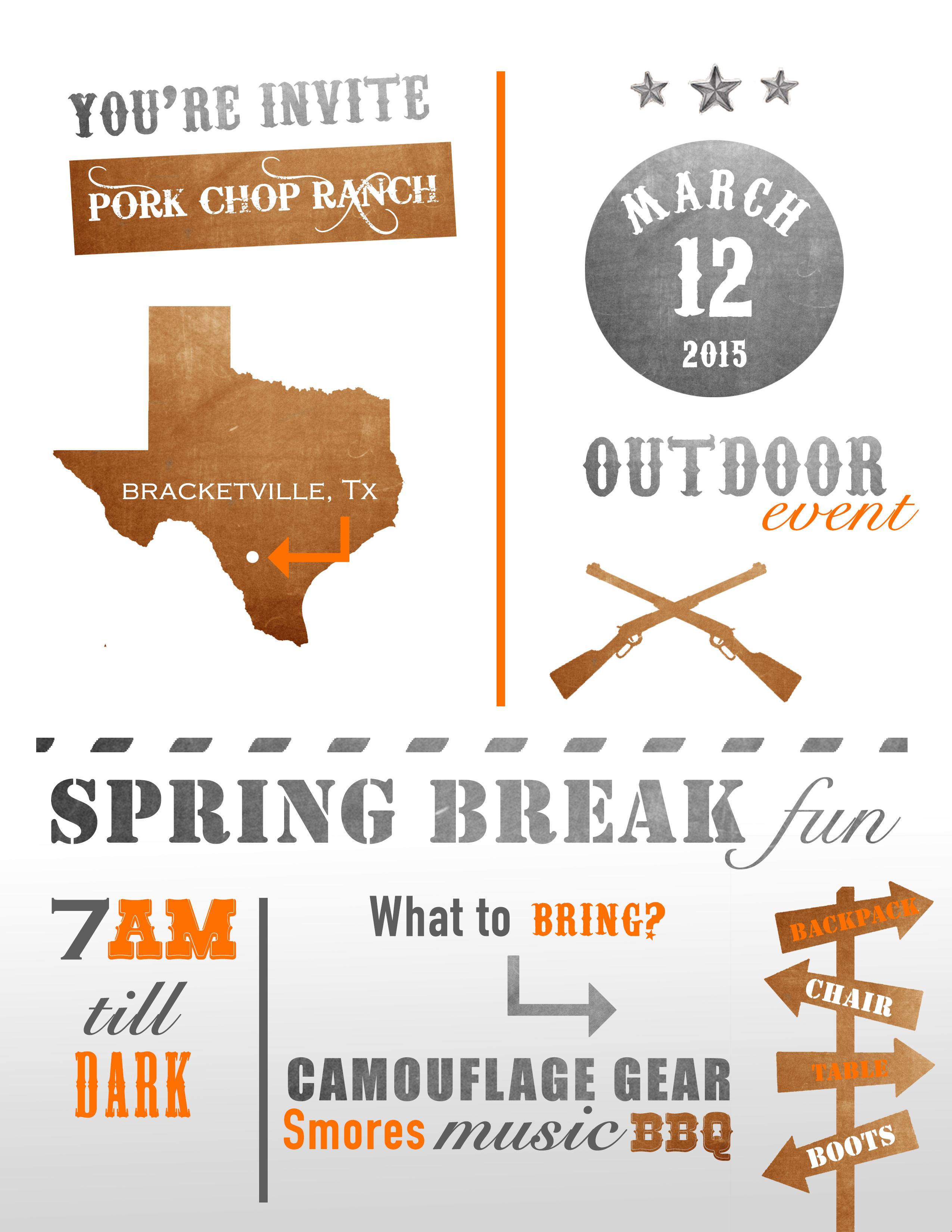 Springbreak 2015 Flyer