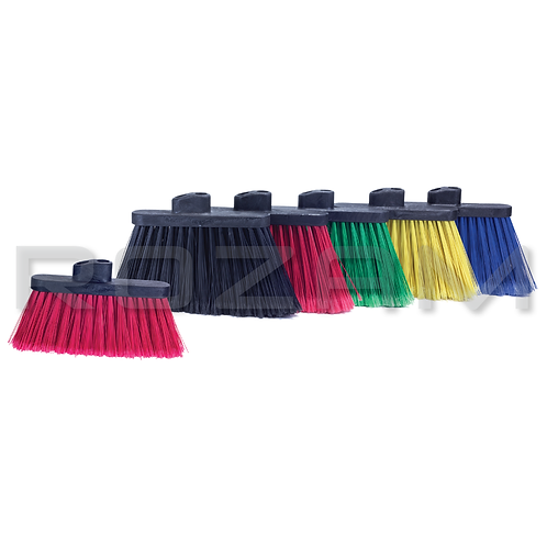 """Escoba angular 6"""" de fibra en PVC roja"""