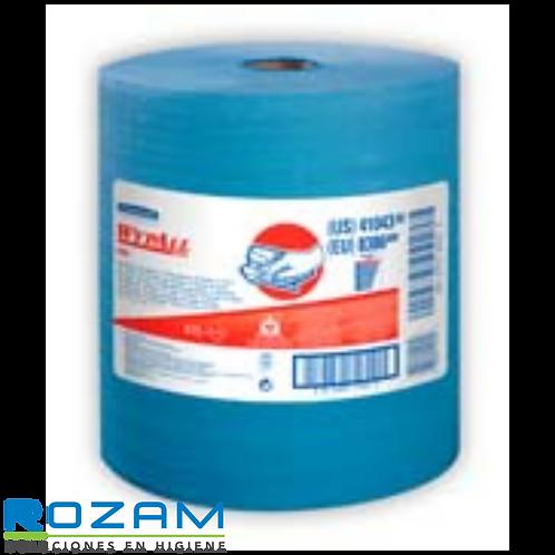 Trapo WYPALL X80 Wiper, Rollo Jumbo Azul, 1Pza 475 Hjs