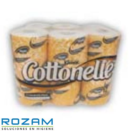 Higiénico Trad. Kleenex Cottonelle 300 Hj 12's banderx8, Blanco