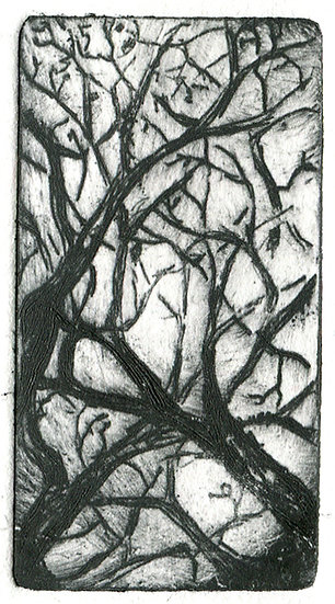 An illustration of tangled branches