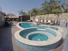 Jacuzzi et piscine eau salée de Villa Noa Eilat