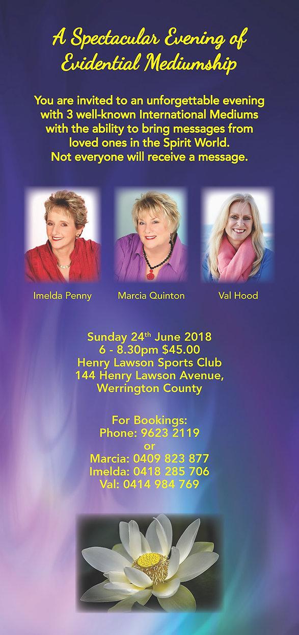 3 mediums -melda Marcia Val - DL flyer 2