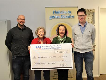 Erfreuliches Spendenergebnis der Musikkapelle Rohrdorf am Dreikönigskonzert