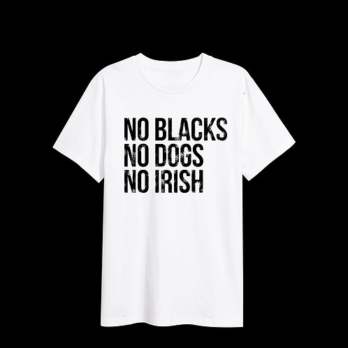 No Blacks - White Tee
