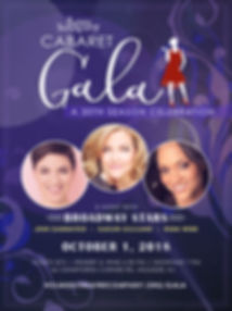 Cabaret Gala Poster designed by Heather Thompson