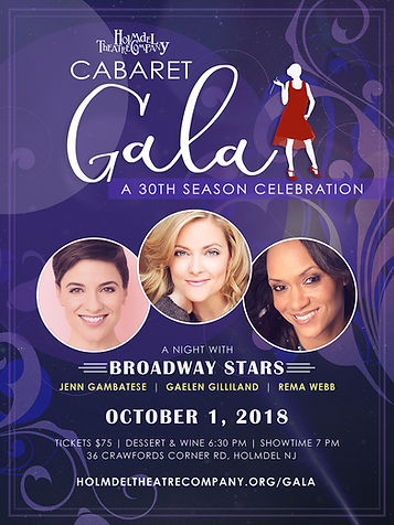 Cabaret Gala Poster designed by Heather Thompson