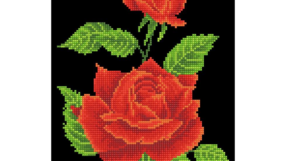 Diamond Dotz Red Rose Corsage