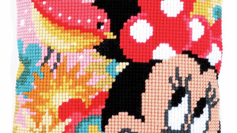 Vervaco: Cross Stitch Kit: Cushion: Disney: Minnie - Psst, I've a Secret