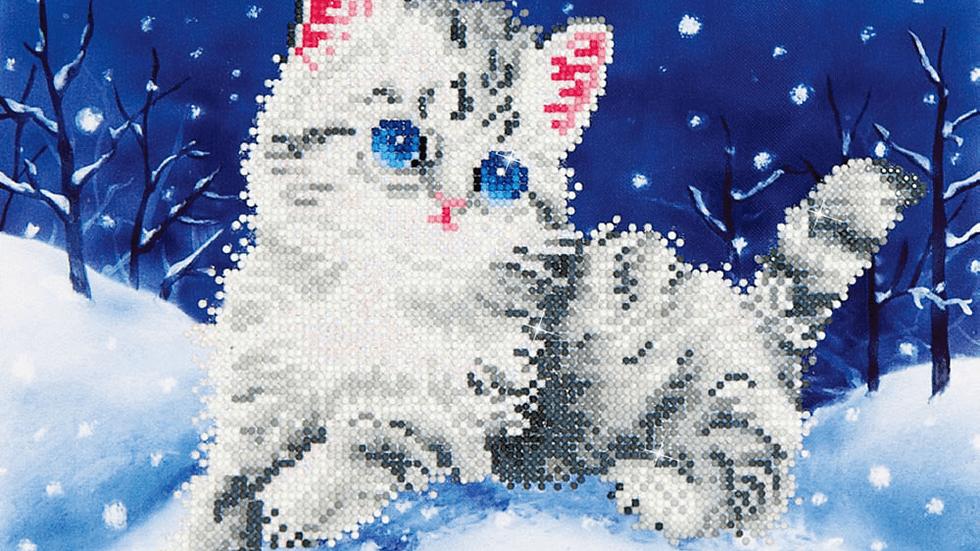 Diamond Dotz Kitten in the Snow