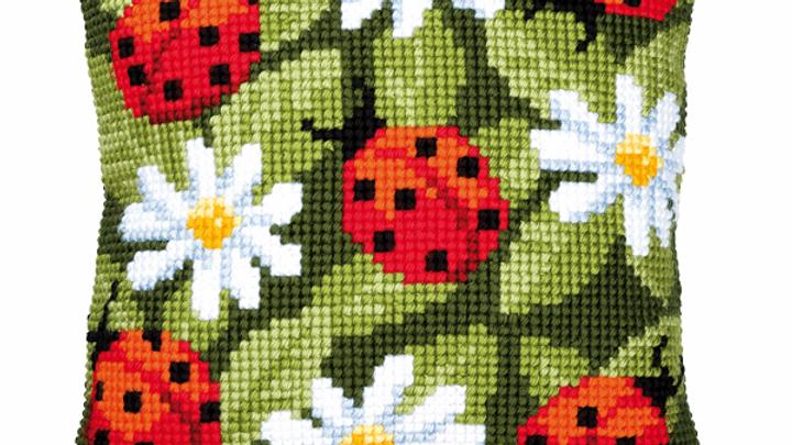 Vervaco: Cross Stitch Kit: Cushion: Ladybird
