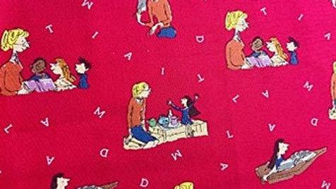 Roald Dahl Fabric - Matilda, Red