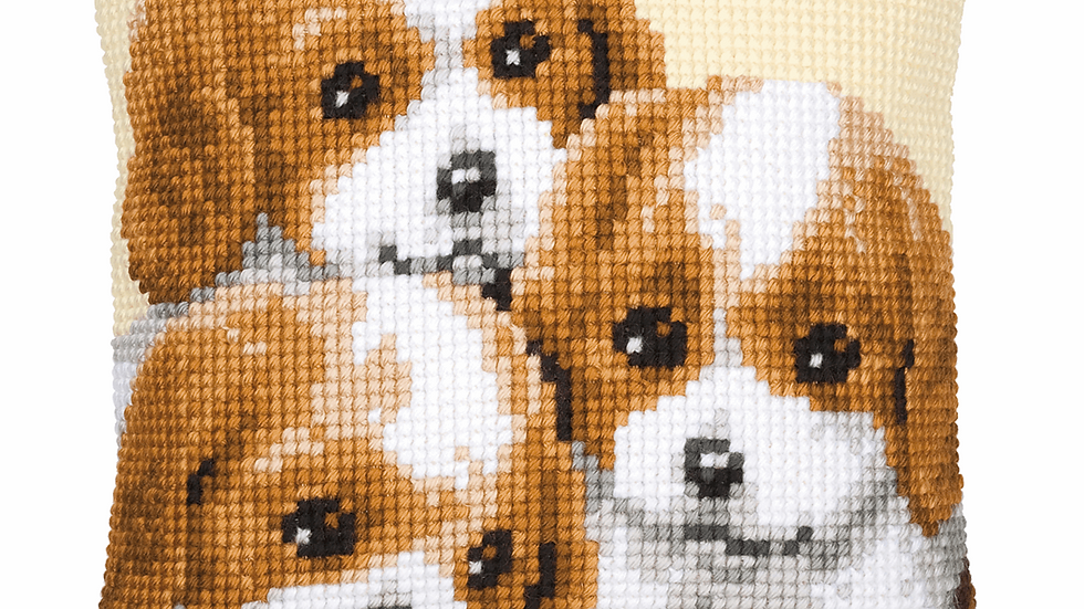 Vervaco: Cross Stitch Kit: Cushion: Puppies