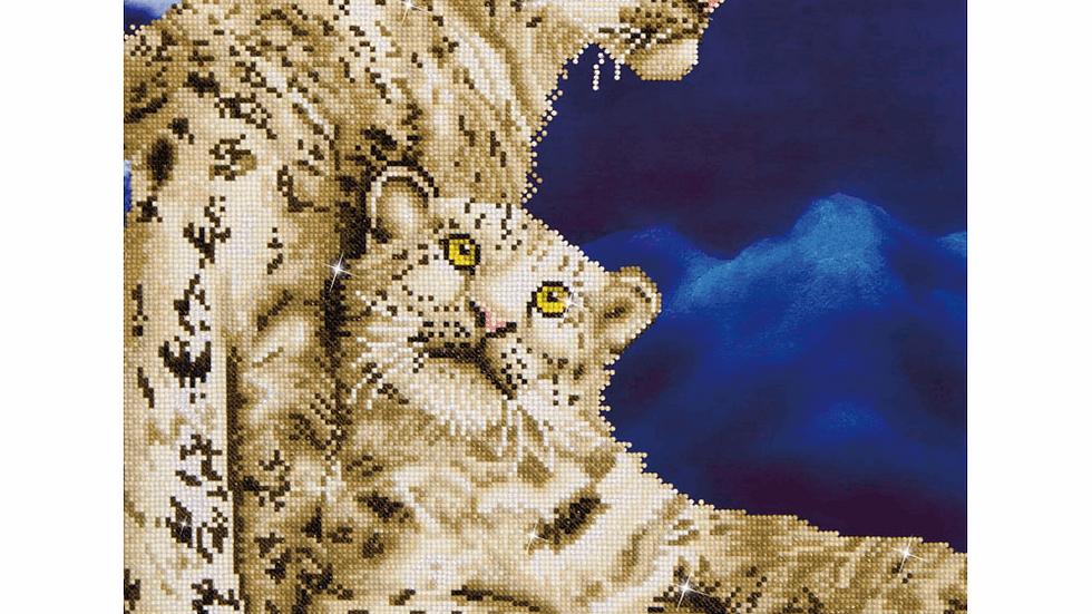 Diamond Dotz Snow Leopards