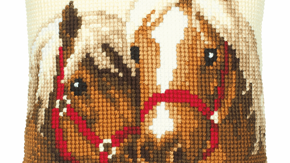 Vervaco: Cross Stitch Kit: Cushion: Horses