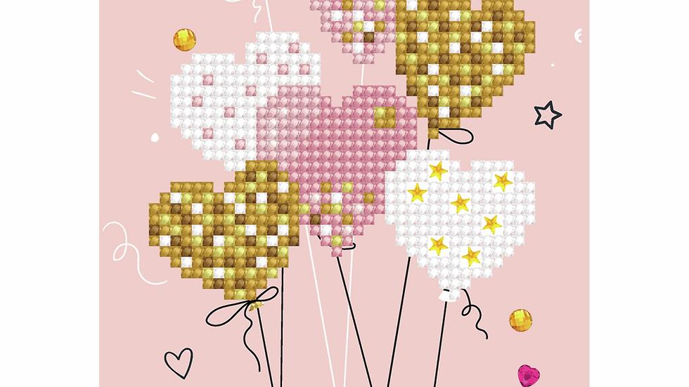 Diamond Dotz Greeting Card Kit Love Balloons