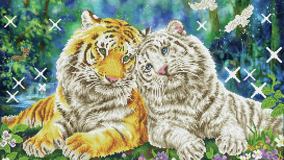 Diamond Dotz Tiger Smooch