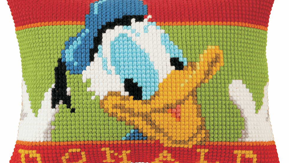 Vervaco: Cross Stitch Kit: Cushion: Disney: Donald Duck