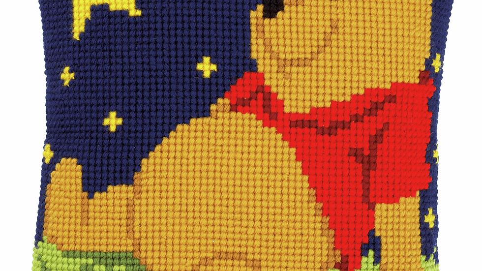 Vervaco: Cross Stitch Kit: Cushion: Disney: Winne The Pooh