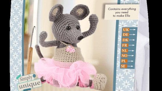 Hanna' Crochet Collection: Crochet Kit: Ella the Ballet Mouse
