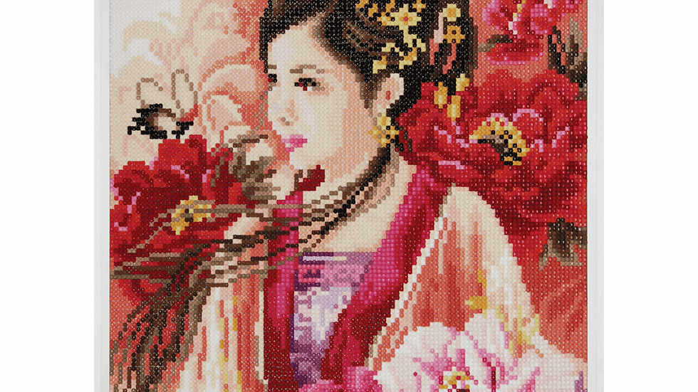 Lanarte: Diamond Painting Kit: Asian Lady in Pink