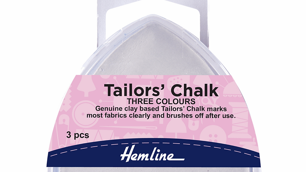 Hemline Tailors Chalk: Assorted Colours: Triangle: Pack of 3