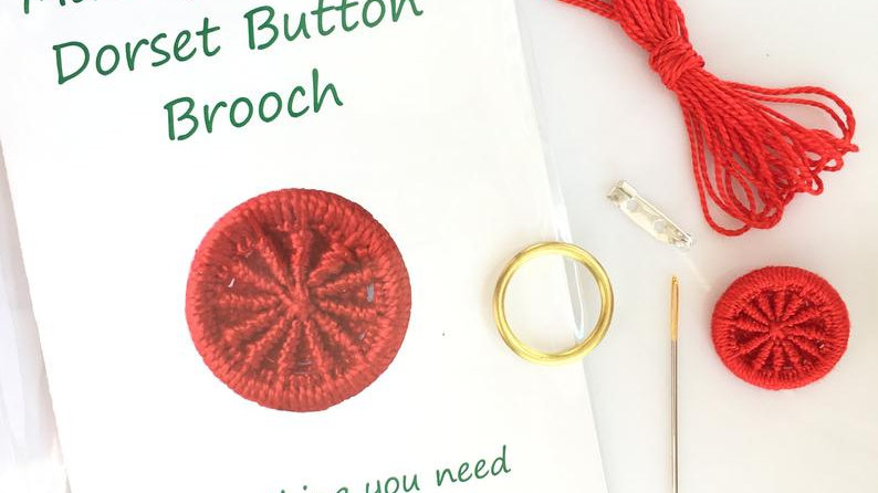 Make Your Own Dorset Button Brooch Kit - by Gini's Boutique