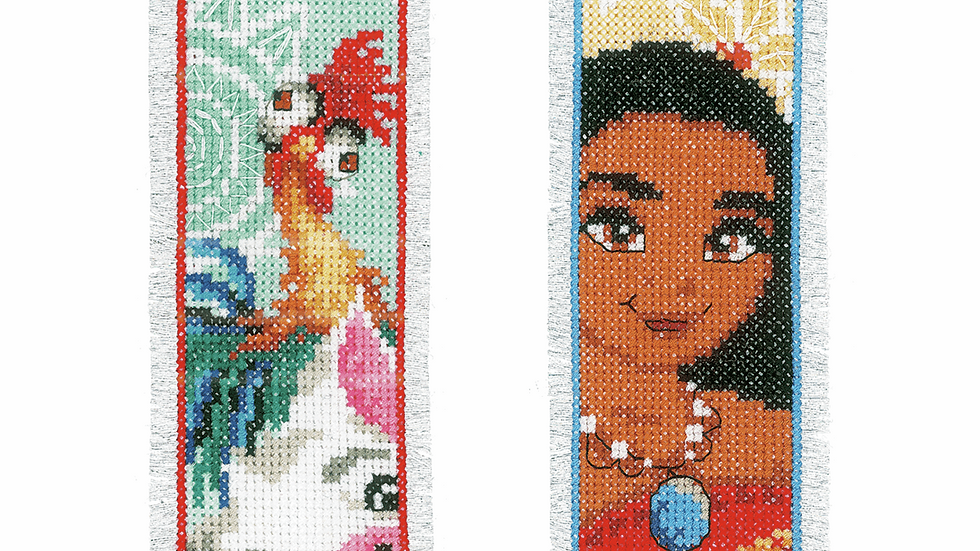 Vervaco: Counted Cross Stitch Kit: Bookmarks: Disney: Moana (2)