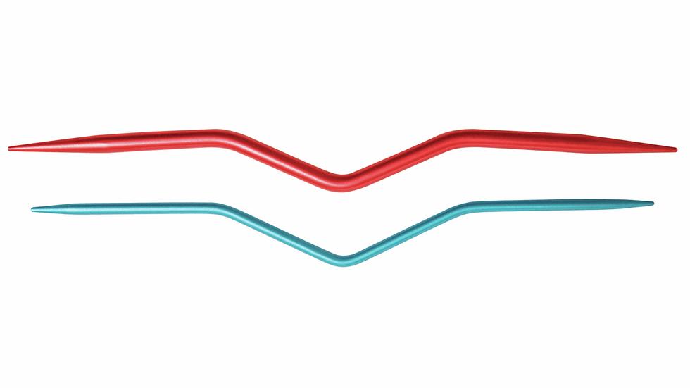 KnitPro: Coloured Aluminium Cable Needles: Set of 2
