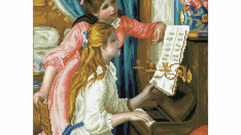 Diamond Dotz Girls at the Piano (Renoir)