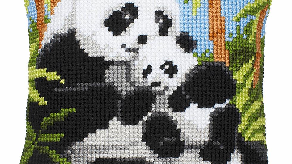 Vervaco: Cross Stitch Kit: Cushion: Pandas