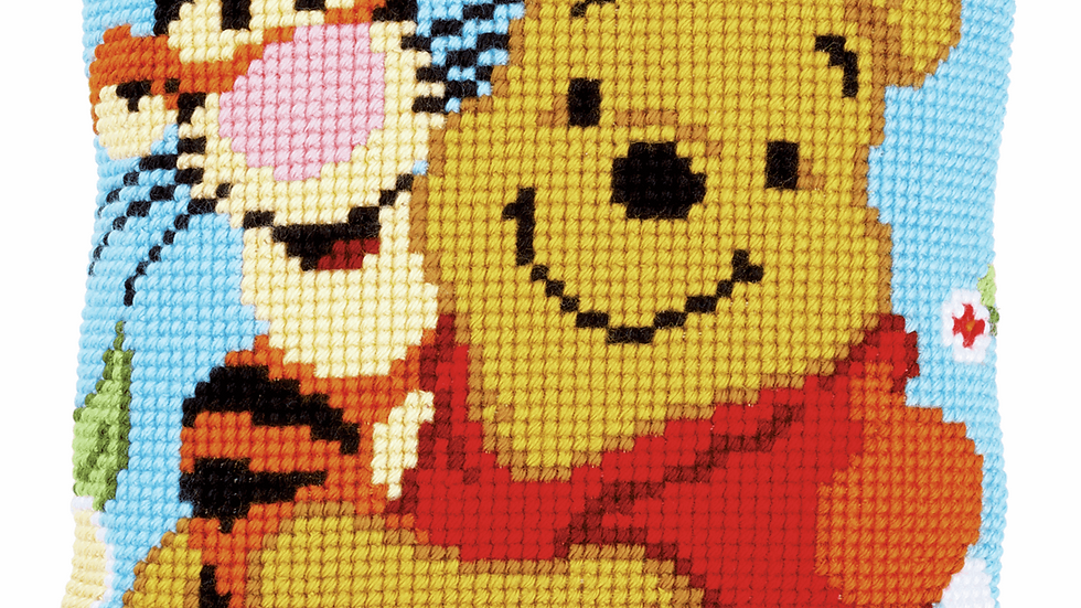 Vervaco: Cross Stitch Kit: Cushion: Disney: Winnie and Tigger