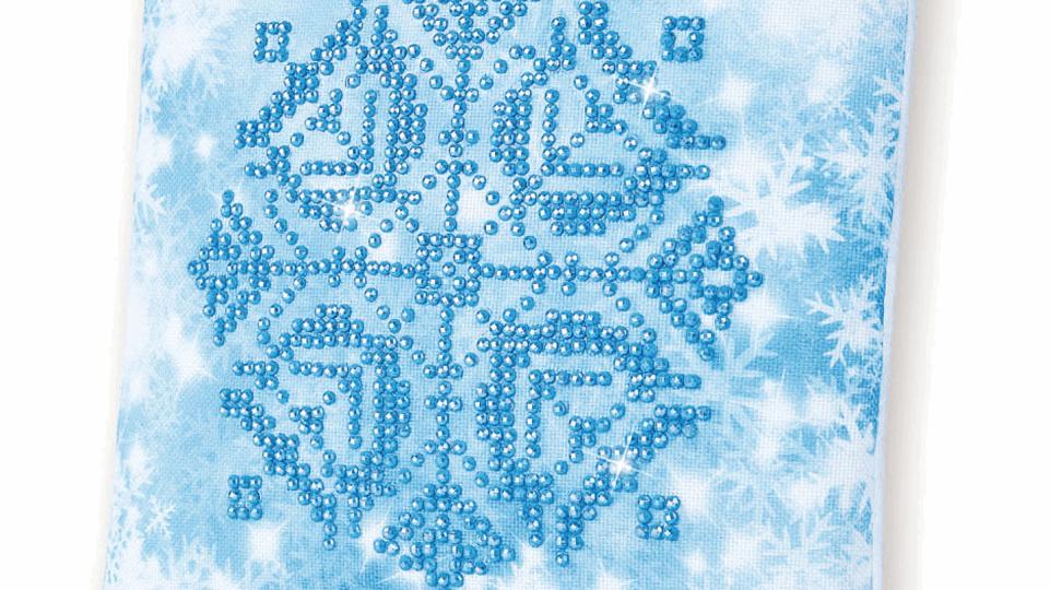 Diamond Dotz Cushion Snowflake
