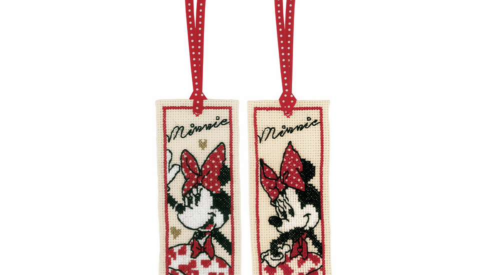 Vervaco: Counted Cross Stitch Kit: Bookmark: Disney: It's All About Minnie (2)