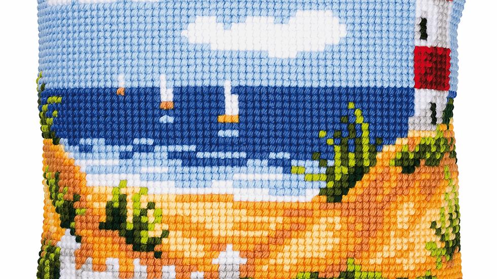 Vervaco: Cross Stitch Kit: Cushion: Lighthouse