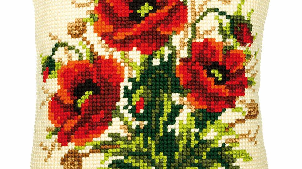 Vervaco: Cross Stitch Kit: Cushion: Poppies