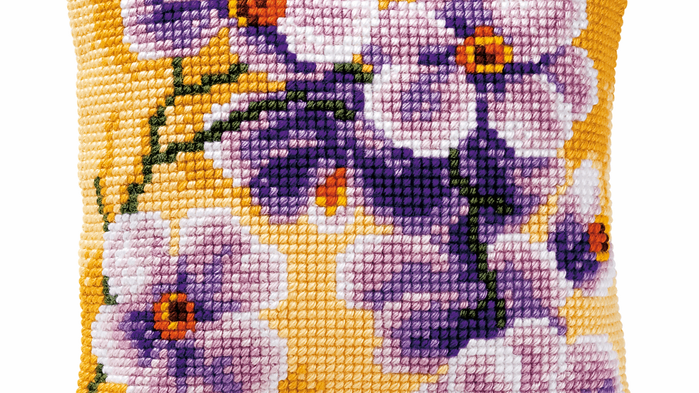 Vervaco: Cross Stitch Kit: Cushion: Orchid