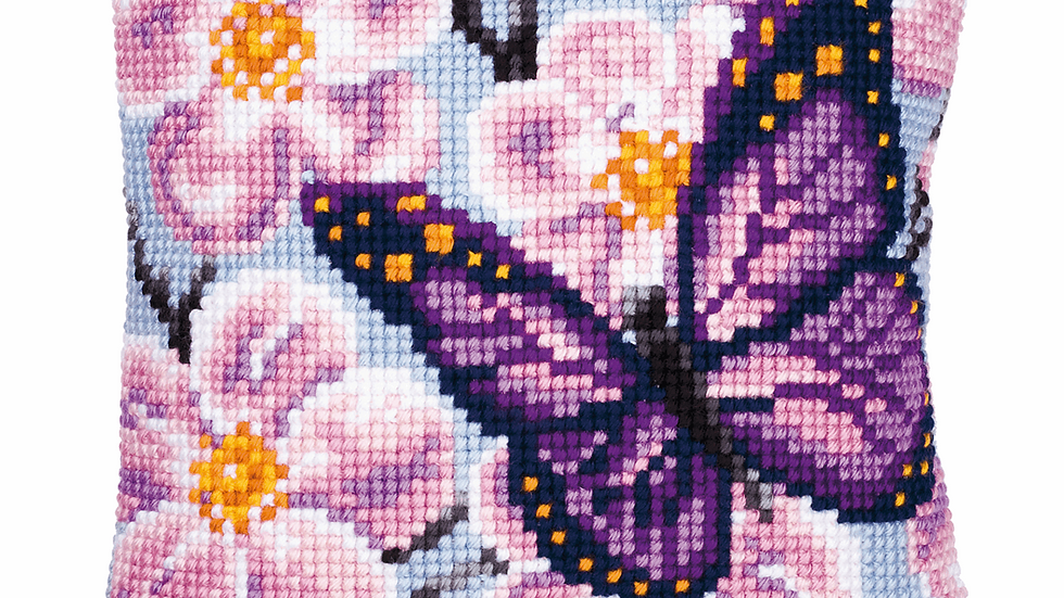 Vervaco: Cross Stitch Kit: Cushion:Butterfly