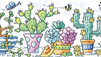 Heritage Crafts Cactus Garden Cross Stitch Kit
