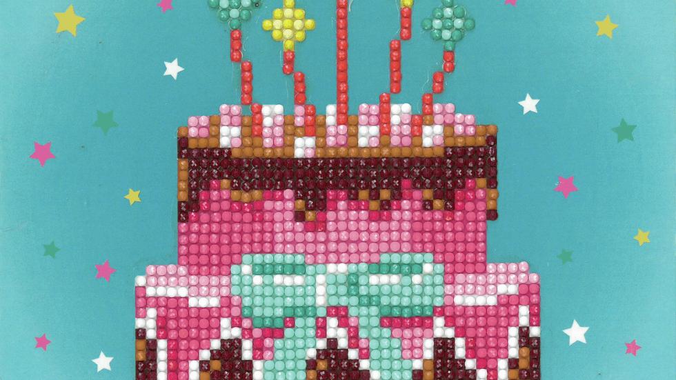 Vervaco: Diamond Painting: Greeting Card Kit: Birthday Cake