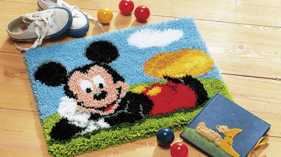 Vervaco: Latch Hook Kit: Rug: Disney: Mickey Mouse