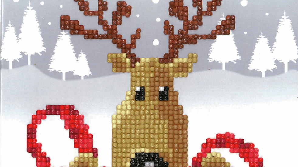 Vervaco: Diamond Painting: Greeting Card Kit: Reindeer