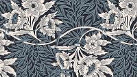 V&A William Morris Fabric - Tulip and Willow, Blue