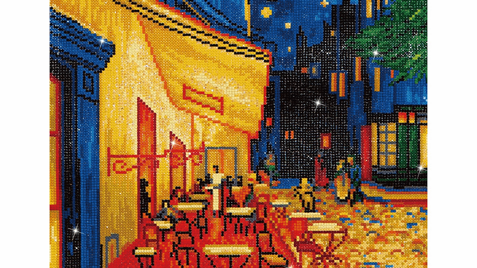 Diamond Dotz Cafe at Night (Van Gogh)