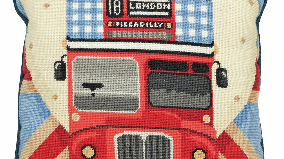Anchor: Tapestry Kit: Cushion: Red Bus on Union Jack
