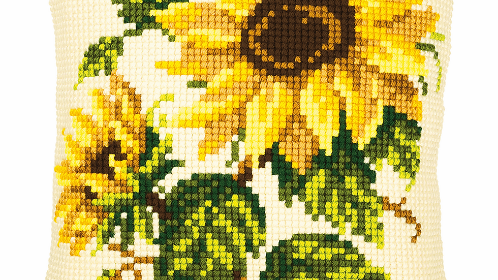Vervaco: Cross Stitch Kit: Cushion: Sunflowers
