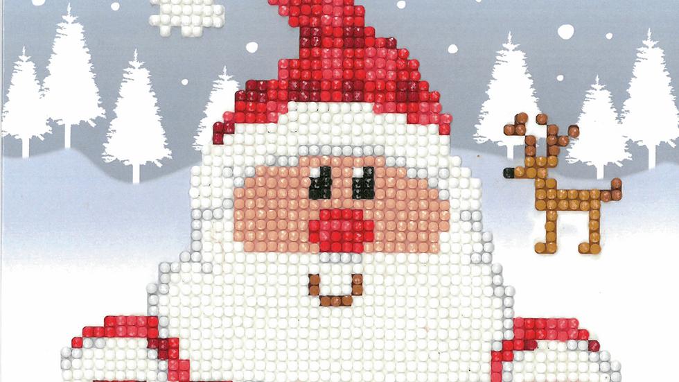 Vervaco: Diamond Painting: Greeting Card Kit: Santa