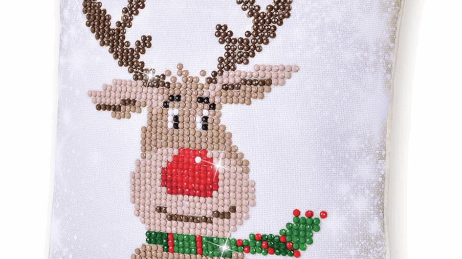 Diamond Dotz Cushion Christmas Reindeer