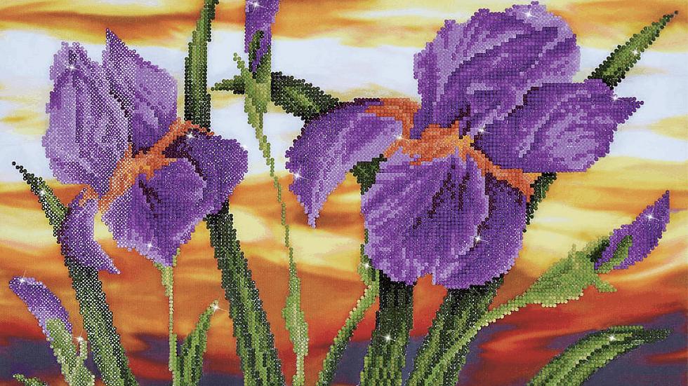 Diamond Dotz Iris Sunset
