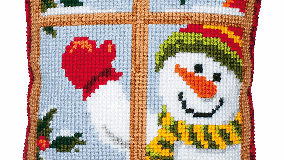 Vervaco: Cross Stitch Kit: Cushion: Snowman